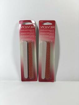 REVLON 10 Compact Emery Boards Nail File Dual Sided Set of 2