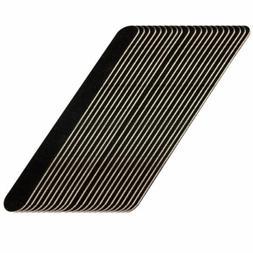 10 PCS Black Pro Double Sided Manicure Tool 100/180 Grit Nai