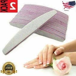 10 pcs Professional Acrylic Nail File 100/180 Grit Zebra San
