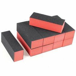 10 x Black Red Nail Polisher 4 Way Buffer Buffing Block Mani