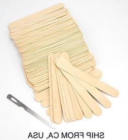 100 Salon Waxing Hair Removal Wooden Spatulas Wax Applicator