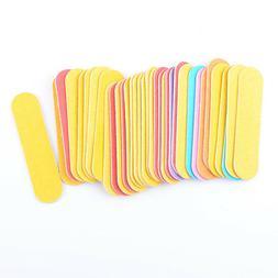100pcs Mini Nail File Block Buffer Manicure Beauty UV Gel Po