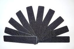 """10pc Nail File Black Jumbo 100/100 Grit Square Shape 7x1"""" Pl"""