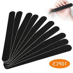 10pcs black pro double sided manicure tool