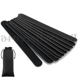 10pcs Black Pro Double Sided Manicure Tool 100/180 Grit Nail