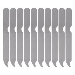 10pcs Metal Nail Art Dual Sided File Manicure Pedicure Tool