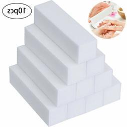 10pcs Nail Buffer Block 4 Way Sanding Block Files Sponge Nai