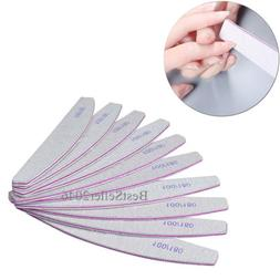 10pcs Nail Files Buffer Shiner Polisher Pro Art Pedicure Man