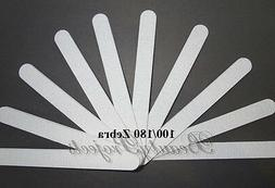 Salon Professional Acrylic Nail Files 100/180 Zebra Plastic