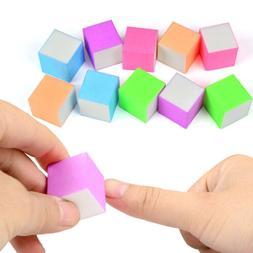 10PCS Sponge Nail File Polish Brush Nail Art Manicure Pedicu