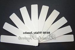 10pcs white jumbo nail files 80 80