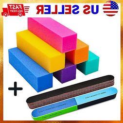 11 PCS COLOR Manicure Buffer Block Nail File Bulk Sanding Fi