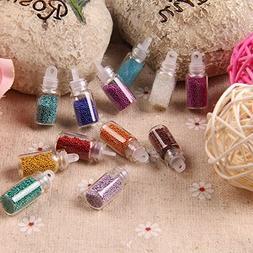 12 Colors Mini Tiny Circle Glitter Decor Nail Art Tip UV Gel