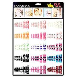 180 pcs Fake Nails Colorful Mixed TOE False Nails/3D Nail Ar