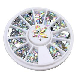 1 Pack 2-Sizes 3D Horse Eyes Gem Marquise Crystal Nail Art R