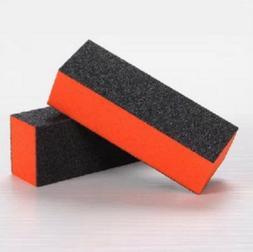 2 Pcs Black Orange Rectangle 4 Way Shiner Buffer Sanding Blo