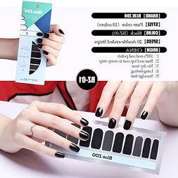 20 Tips/Sheet Pure Color Series Nail Polish Stickers Art Dec