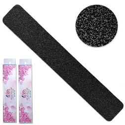 20pcs Pana Professional Jumbo Black Nail Files with Pink Cen