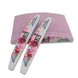 25pcs Flowery Nail Files 100/100Grit Double Sided Sanding Bu