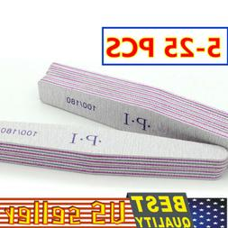 10-50pc Nail Files 100/180 Double Sided Sanding Buffer Manic