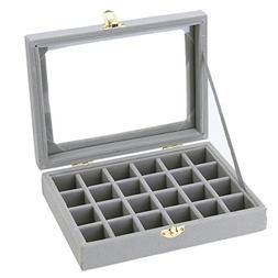 3*3cm 24 Grid Ring Ear Studs Jewelry Storage Display cardboa