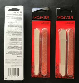3 NIP Revlon Compact Emery Boards Nail File Dual Sided 24 Ct