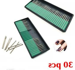 30 Nail Art Electric Drill Bits Replacement Manicure Pedicur