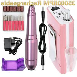 35000rpm rechargeable portable electric manicure drill machi