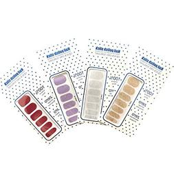 4-Packs of 48 Pieces of New Nail Stickers Fake Nails, Color