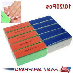 10/20 Nail Art Manicure 4 Way Shiner Buffer Buffing Block Sa