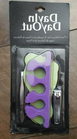 5 Piece Pedicure Kit, Two Toe Separators, Nail Clippers, Twe