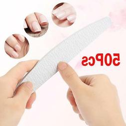 50 pcs Professional Acrylic Nail File 100/180 Grit Zebra San