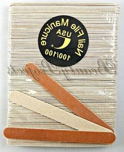 5000pc Mini Manicure Nail Files 100/100 Grit Wood Sanding Re