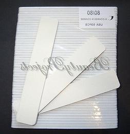 "50pc White Nail Files 80/80 Grit 7x1"" Jumbo Acrylic Nail Fil"