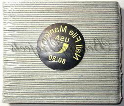 50pcs Mini Manicure Nail Files Zebra 80/80 Grit Wood Center
