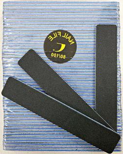 50pcs nail file black jumbo 80 100