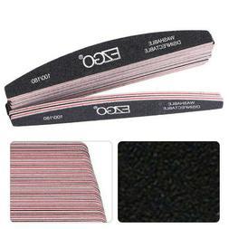 50Pcs Professional Acrylic Nail File 100/180 Grit Sanding Fi