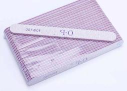 Professional Acrylic Nail File 100/180 Grit Zebra Sanding F