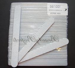 50pc Professional Acrylic Nail File 100/180 Grit Zebra Sandi