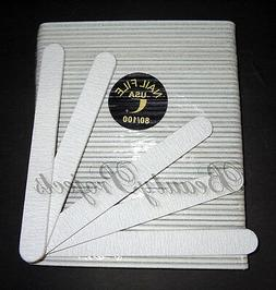Professional Acrylic Nail File 80/100 Grit Zebra Sanding Fi