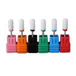 6PC Manicure Drill Accessories Ceramic Nail Drill Bit Dead S