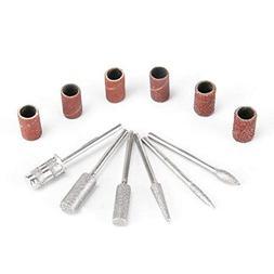 VOGUE Professional 6pcs Nail Art Drill File Diamond Bits Set