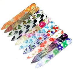 6pcs Random Pattern Mini Crystal Glass Nail Art TIP File Bea