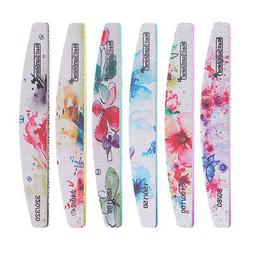 6x Double Sided Nail Files and Buffers Emery Board for Acryl