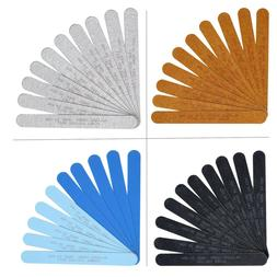 Allegro Combs 7 In Nail Files Double Sided Wood Emery Boards