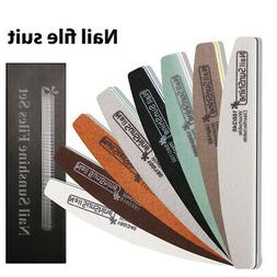 8 Packs Pro Double Sided Manicure Nail File Nail Art Tools A