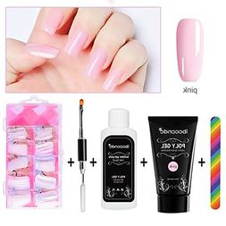 AUKUK Nail Art Kit, Poly Gel Nail Tips Extension Finger Quic
