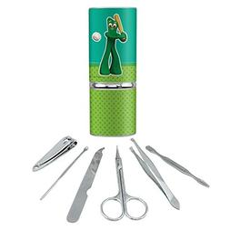 Baseball Player Gumby Stainless Steel Manicure Pedicure Groo
