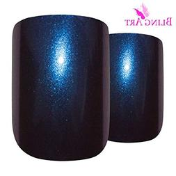 Bling Art False Nails French Fake Chameleon Blue Purple 24 S