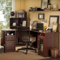 Bush Cabot 60 in. L-Shaped Desk - Harvest Cherry